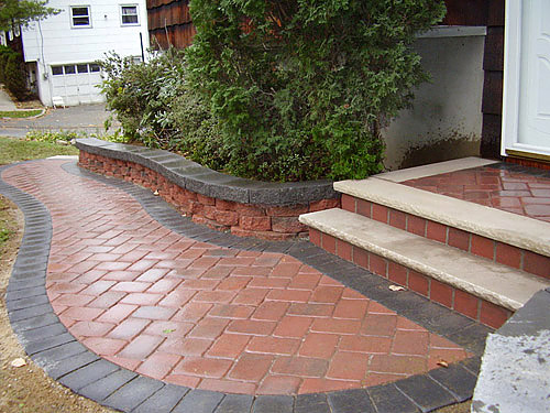 Landscaping Photos, Paver Photos, Wall Photos | Rockland ... on Red Paver Patio Ideas id=44640
